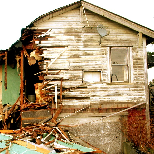 A house in need of repair